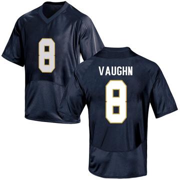 Men's Donte Vaughn Notre Dame Fighting Irish Under Armour Game Navy Blue Football College Jersey