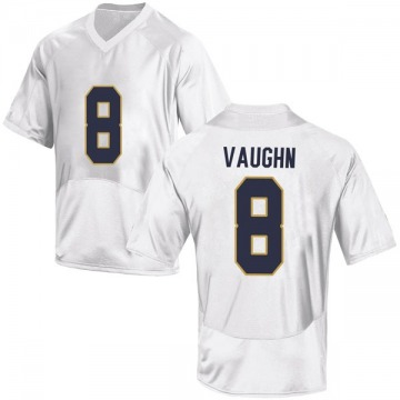 Men's Donte Vaughn Notre Dame Fighting Irish Under Armour Game White Football College Jersey
