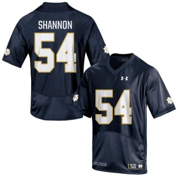 Men's John Shannon Notre Dame Fighting Irish Under Armour Game Navy Blue Football Jersey -