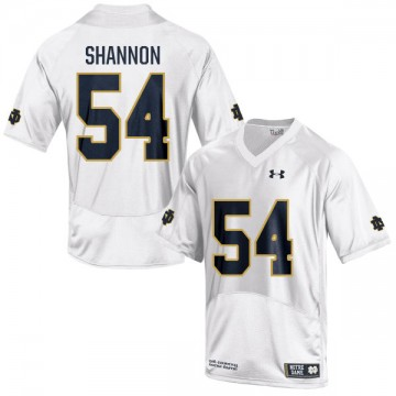 Men's John Shannon Notre Dame Fighting Irish Under Armour Game White Football Jersey -