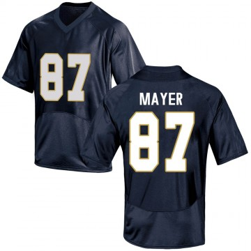 Men's Michael Mayer Notre Dame Fighting Irish Replica Navy Blue Football College Jersey