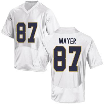Men's Michael Mayer Notre Dame Fighting Irish Replica White Football College Jersey
