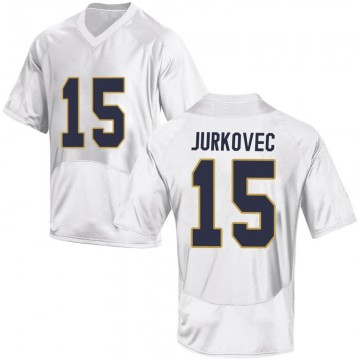Men's Phil Jurkovec Notre Dame Fighting Irish Under Armour Replica White Football College Jersey