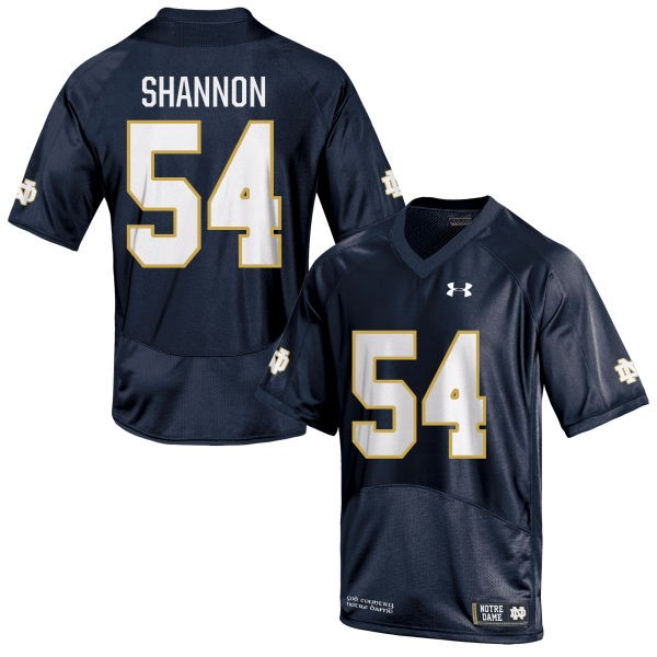 Women's John Shannon Notre Dame Fighting Irish Under Armour Replica Navy Blue Football Jersey -