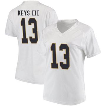 Women's Lawrence Keys III Notre Dame Fighting Irish Under Armour Replica White Football College Jersey