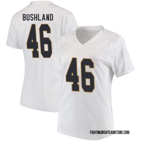 Women's Matt Bushland Notre Dame Fighting Irish Under Armour Replica White Football College Jersey