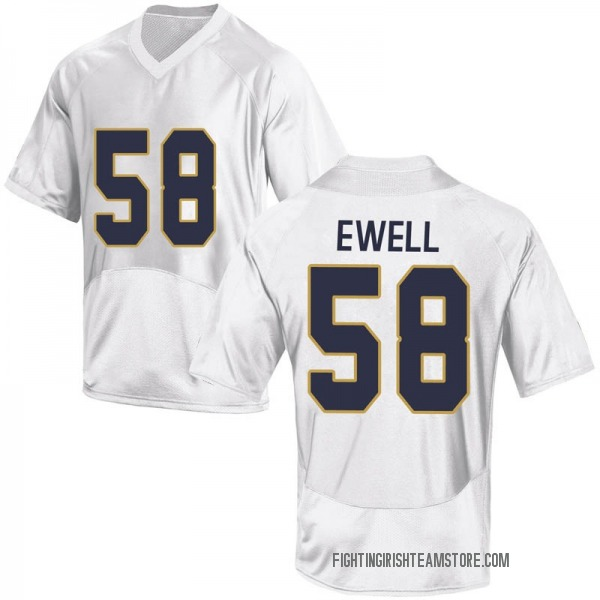 Youth Darnell Ewell Notre Dame Fighting Irish Under Armour Game White Football College Jersey