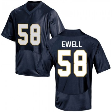 Youth Darnell Ewell Notre Dame Fighting Irish Under Armour Replica Navy Blue Football College Jersey