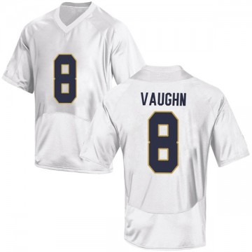 Youth Donte Vaughn Notre Dame Fighting Irish Under Armour Game White Football College Jersey