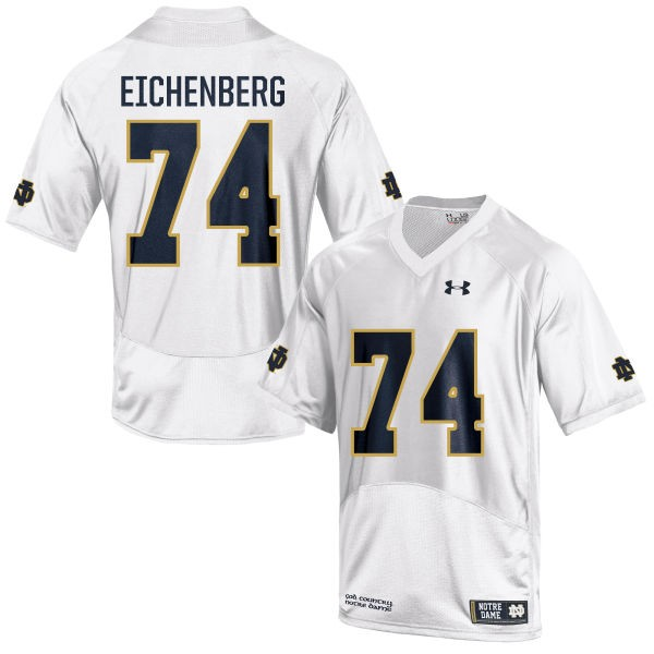 Youth Liam Eichenberg Notre Dame Fighting Irish Under Armour Authentic White Football Jersey -