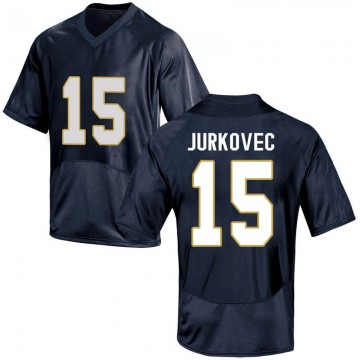 Youth Phil Jurkovec Notre Dame Fighting Irish Under Armour Game Navy Blue Football College Jersey