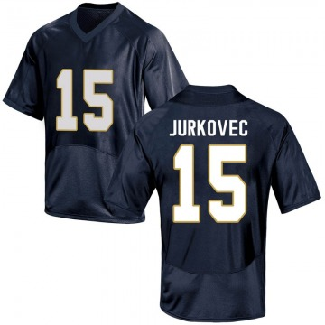 Youth Phil Jurkovec Notre Dame Fighting Irish Under Armour Replica Navy Blue Football College Jersey